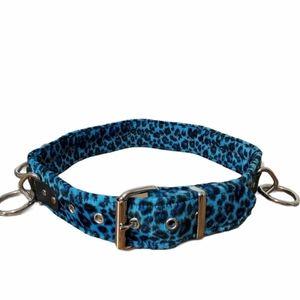 Funk Plus USA Blue Animal Print Bondage belt
